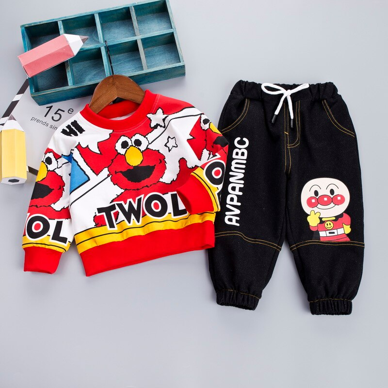 Cartoon Top + Pants  Set