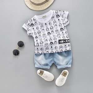 New Cute Short Sleeve T shirt Suit