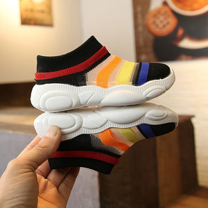 Fashion striped socks shoes