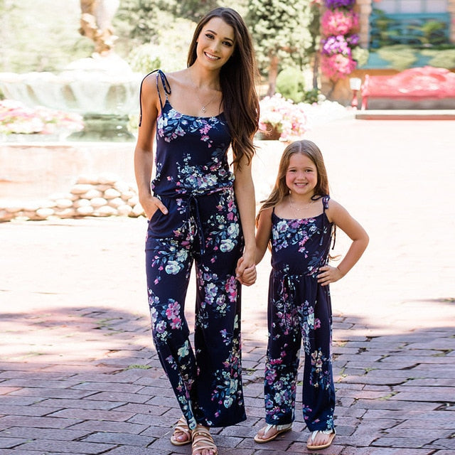 Mother and daughter jumpsuit