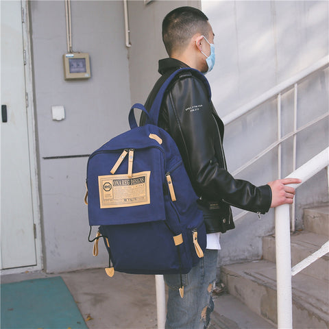 ON-A-Reg Oversized Canvas Backpack - AddPop