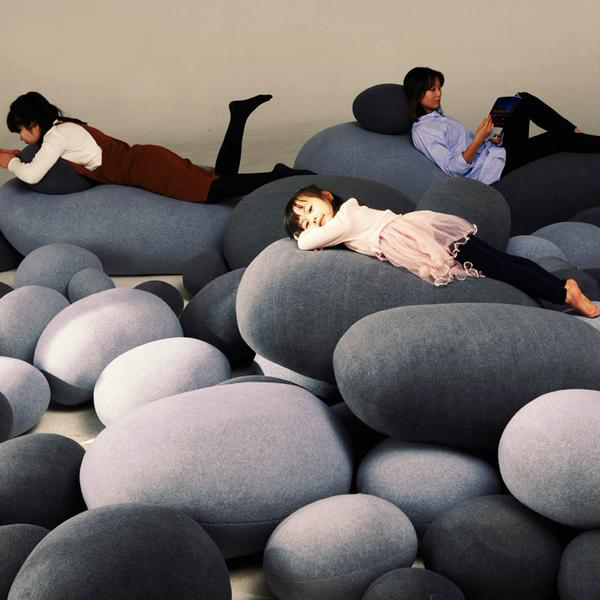 River Stone Pillows - AddPop