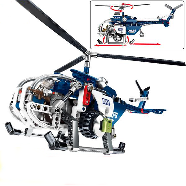 UBUILD 250Pc Building Block Helicopter - AddPop