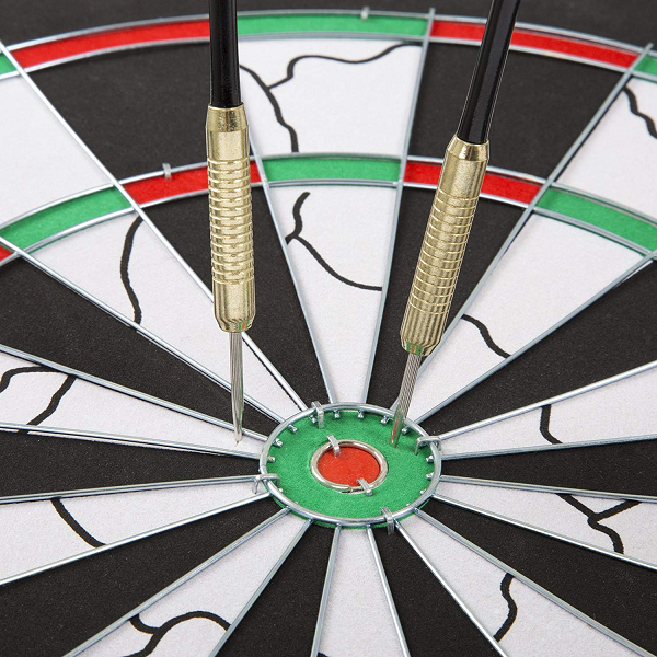 BULLOUT Double-Sided Flocking Dart Board - AddPop