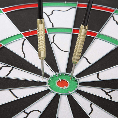Image of BULLOUT Double-Sided Flocking Dart Board - AddPop