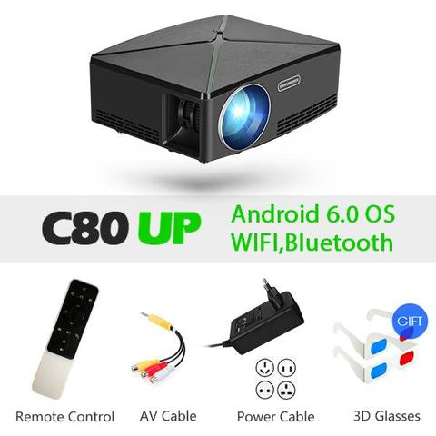 Image of AUN Portable Projector - AddPop