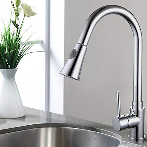 Image of AlmalFi Pull Out Kitchen Faucet - AddPop