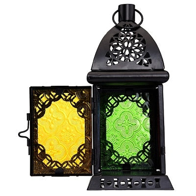 Gothic Stained Glass Lantern