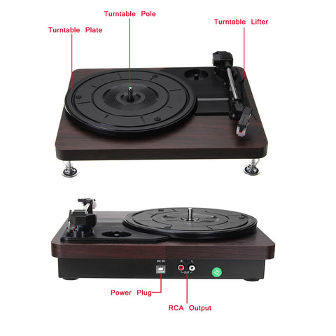 Image of Gramophone Mini Record Player - AddPop