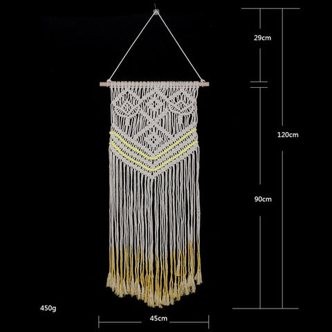 Image of Knotted Threadwork Macrame Wall Hanging - AddPop