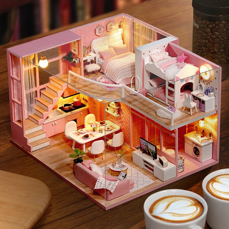 Detailed Miniature Doll House Kit - AddPop