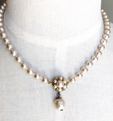 beautiful repaired pearl necklace