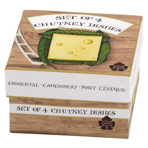 Set of 4 The Cheese Board Chutney Dishes