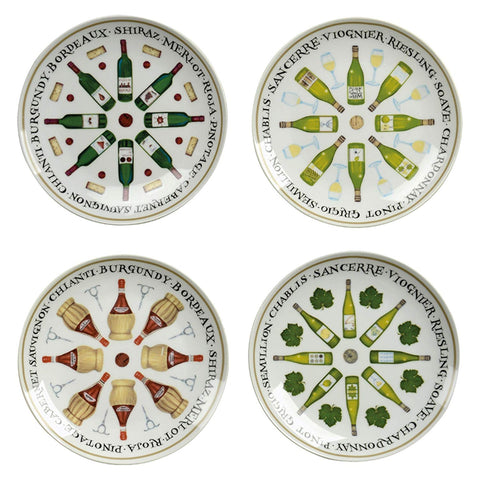 Wine Cellar Set of 4 Wine Plates by Clare Mackie