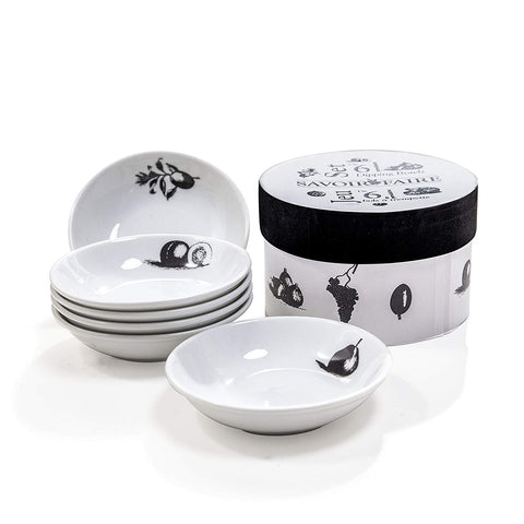 Savoir Faire Porcelain Dipping Bowls Set of 6 Gift-Boxed