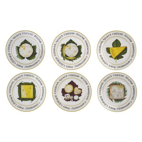 Set of 6 The Cheese Board Plates