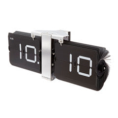 Flip Clock Black/Chrome