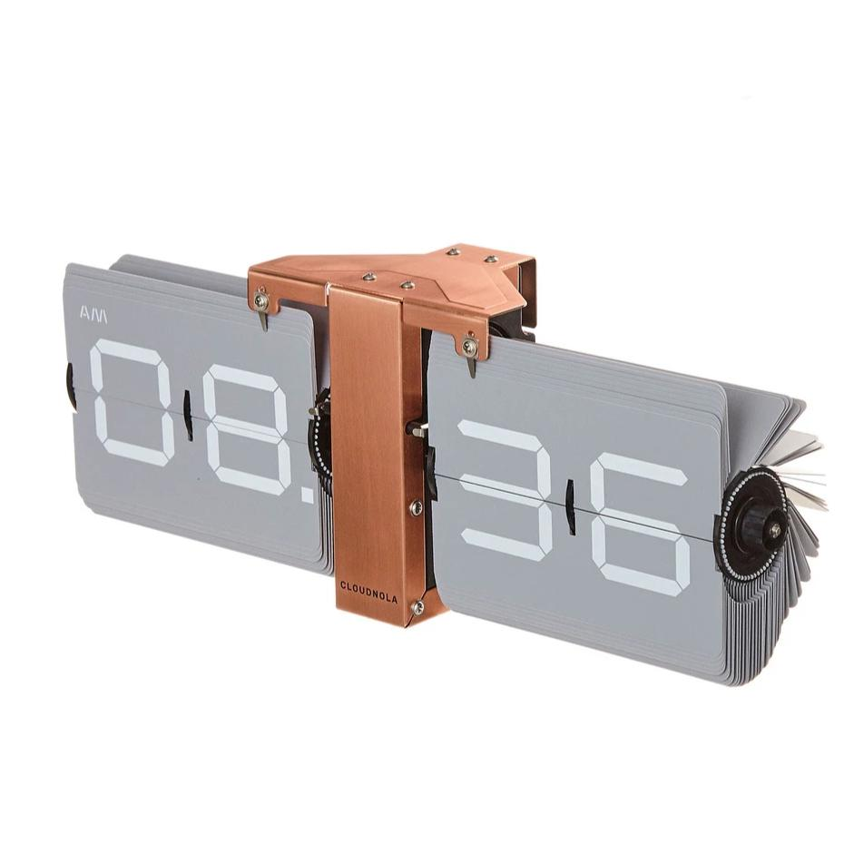 Flip Clock Gray/Copper