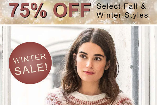 Winter Sale now 75% OFF!