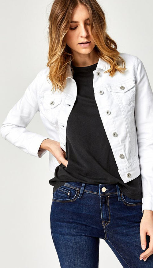 Samantha Denim Jacket - White