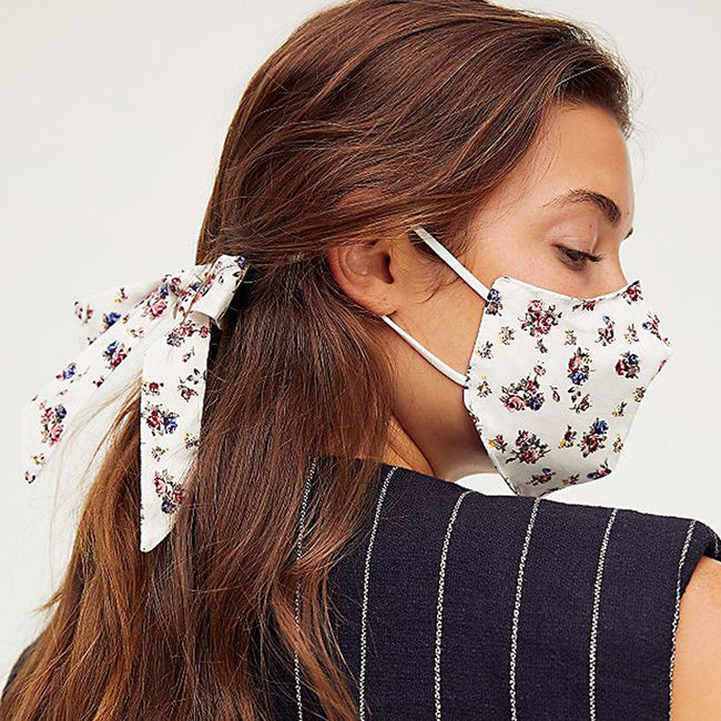 Mask & Bow Floral Pack