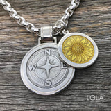 Small Pendant - Compass Rose
