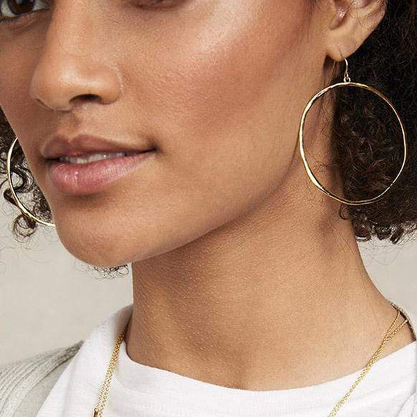 G Ring Hoop Earrings - Gold