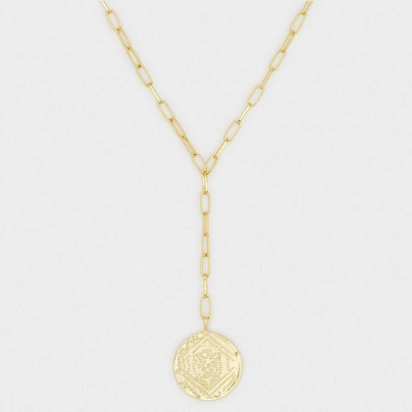 Ana Coin Lariat Necklace
