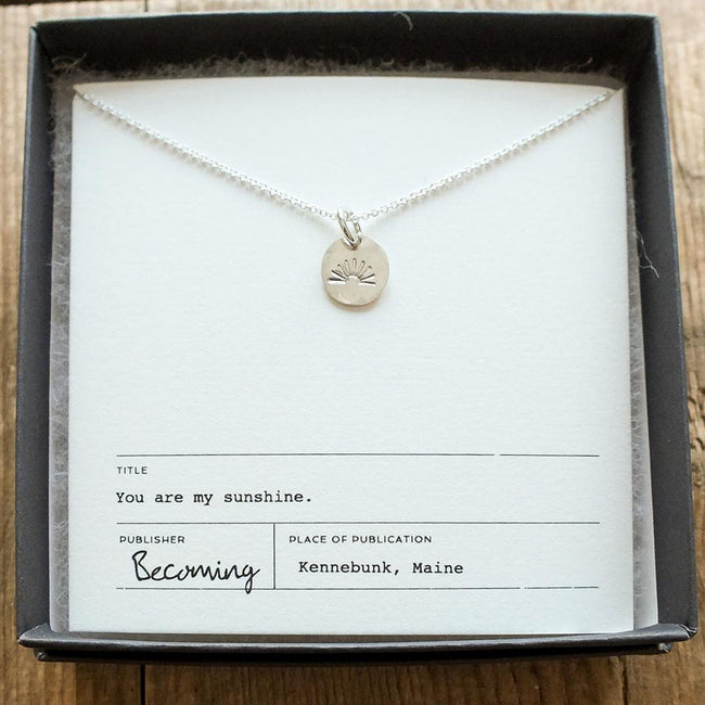 My Sunshine Necklace - Silver
