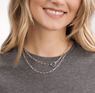 Parker Wrap Necklace - Silver