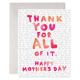 All Of It Mother's Day Card