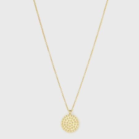 Cayne Crescent Pendant Necklace - Gold