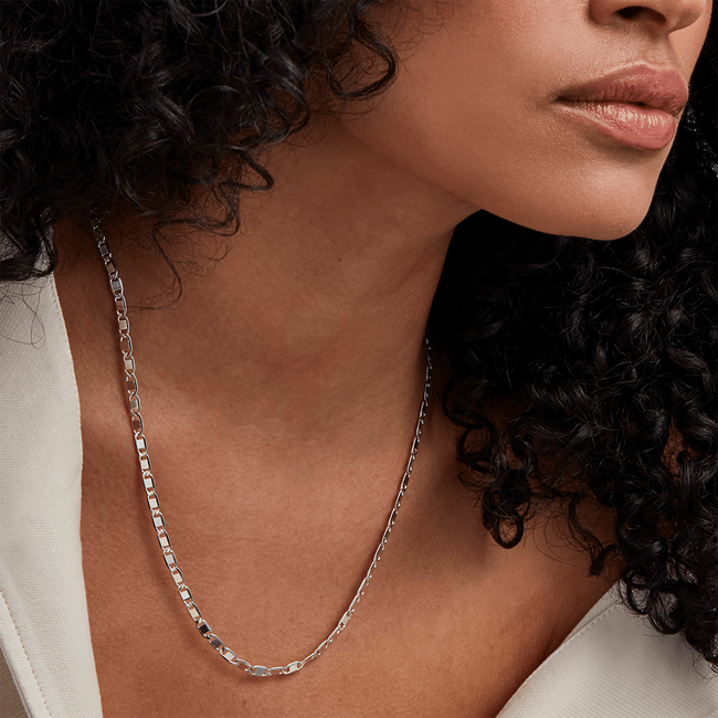 Bobbi Chain Necklace - Silver