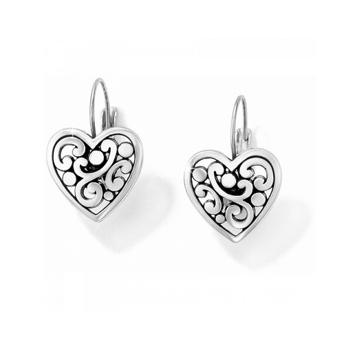 Contempo Heart - Leverback Earrings