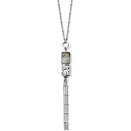 Contempo Shell - Tassel Necklace