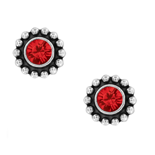 Twinkle Mini Post Earrings - Ruby