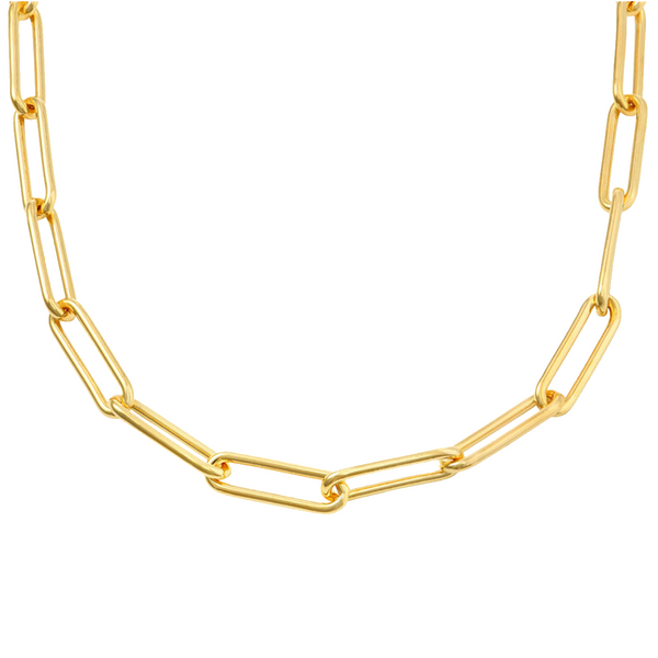 "Oval 5 mm Chain 18"" - Gold"