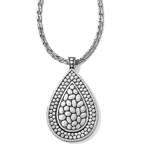 Pebble Teardrop Cnv Necklace
