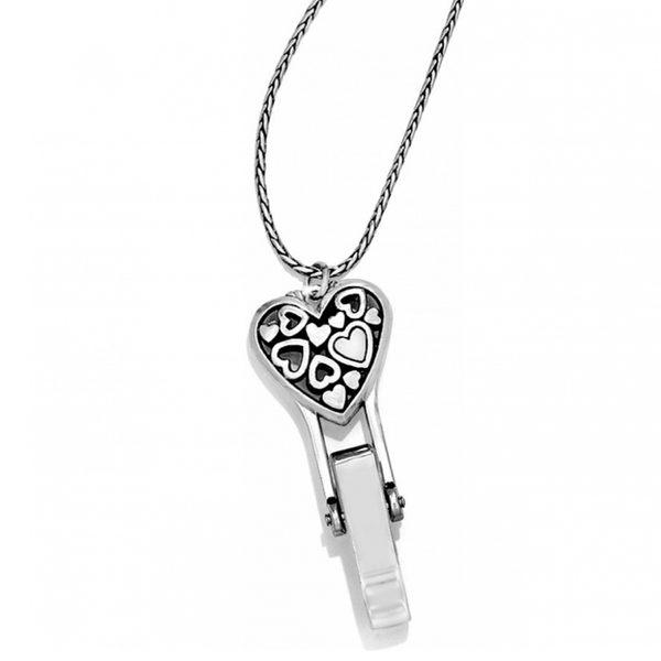 Floating Heart Badge Clip