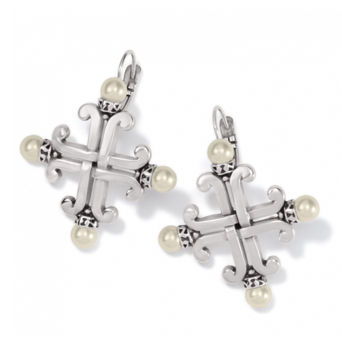 Taos Pearl Cross Earrings