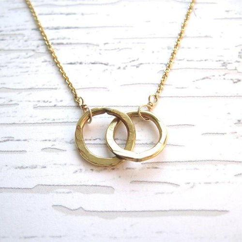 Intertwined Circles Necklace - Gold