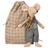 Winter Mouse - Father in Bag