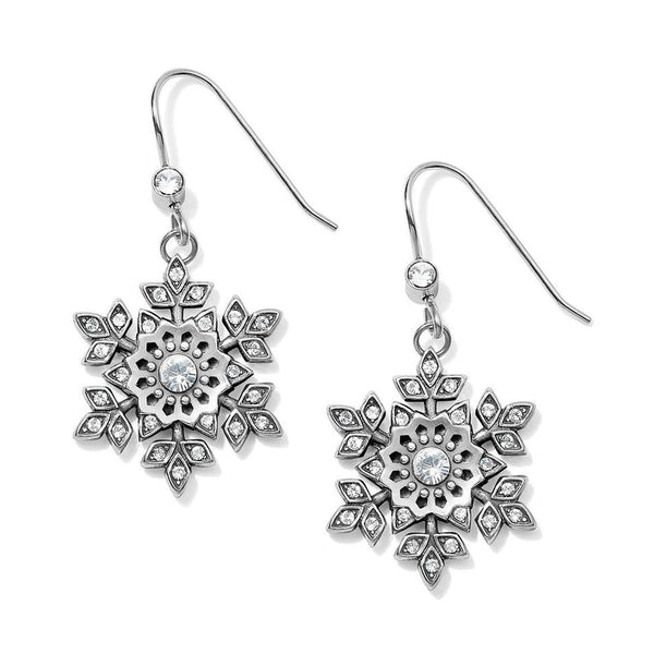 Glint Snowflake French Wire Earrings