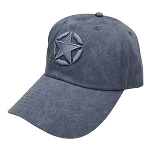 WASHED NAVY DAD CAP