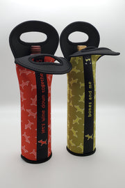 Neoprene Wine Bottle Holders (set of 2)