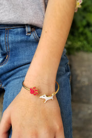 Signature Red and White Bracelet