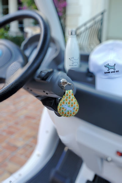 Pineapple Neoprene Keychain
