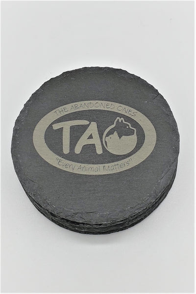 Set of 4 TAO Engraved Coasters