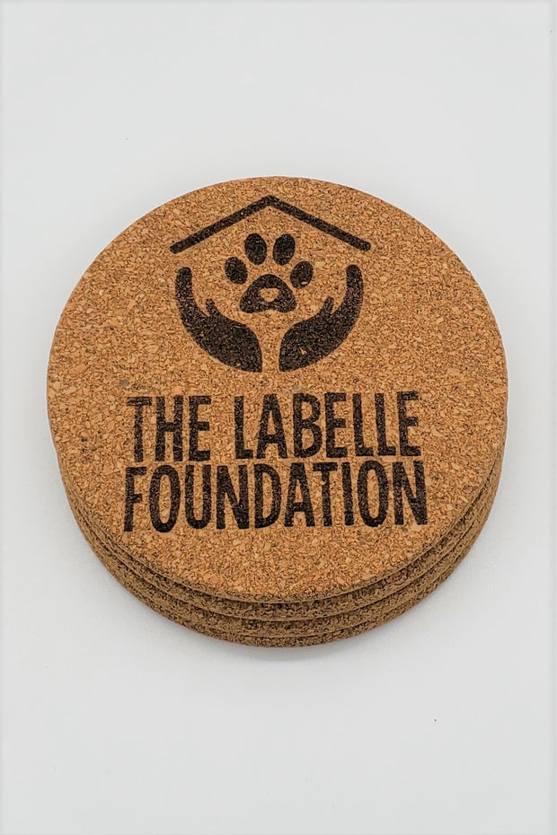 Set of 4 LABELLE Cork Coasters