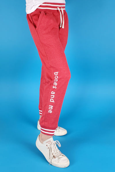 LADIES LOUNGE JOGGERS (retro red)